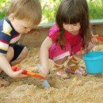 Das Wichtigste ist Sandspielzeug