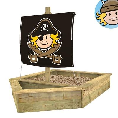Sandkasten in Schiffsform von WICKEY