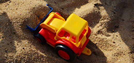 Spielsand oder Sad von der Baustelle